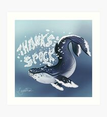 Whale from Star Trek IV: The Voyage Home Art Print