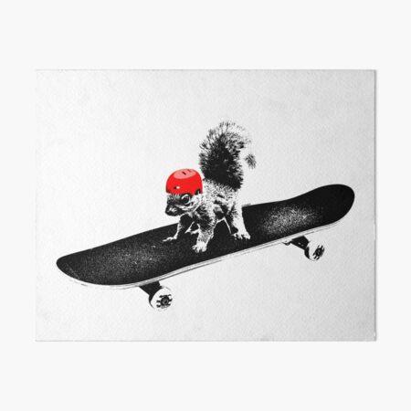Skateboard Squirrel Art Board Print