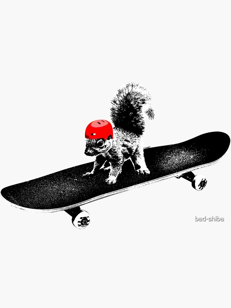 Skateboard Squirrel by bad-shiba