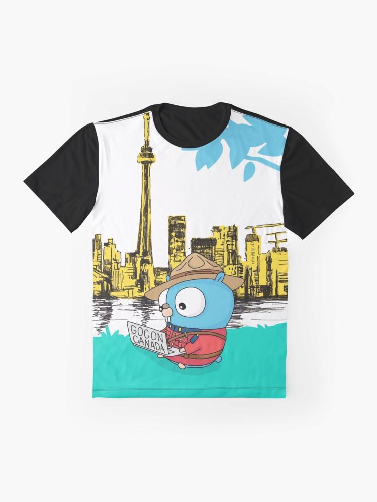 Alternate view of GoCon Canada 2019 Mountie Gopher original t-shirt Graphic T-Shirt