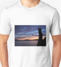 Barbed Wire Sunset Unisex T-Shirt