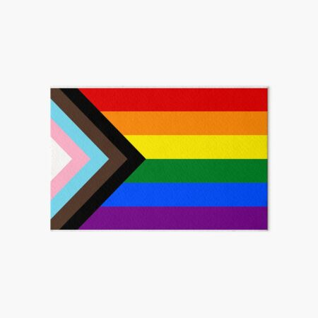 Progress Pride Flag Art Board Print