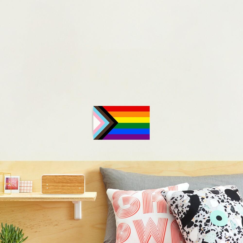 Progress Pride Flag Photographic Print