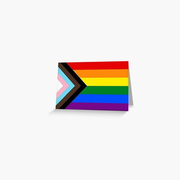 Progress Pride Flag Greeting Card