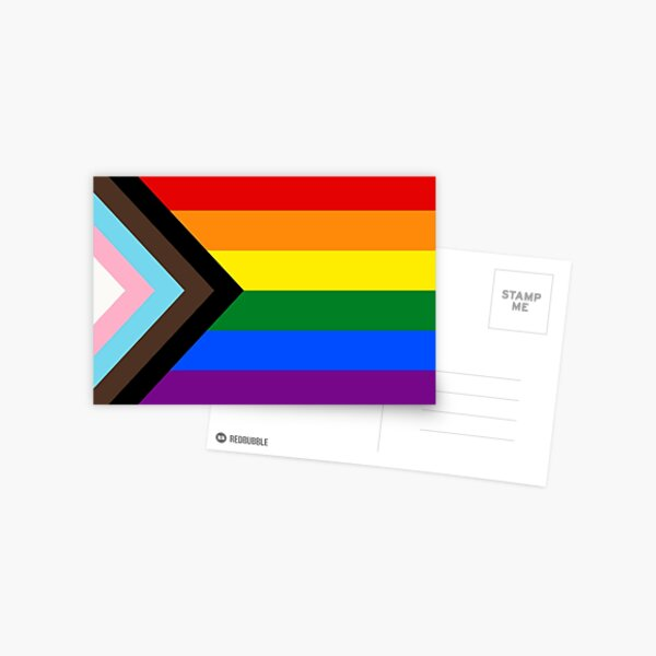 Progress Pride Flag Postcard