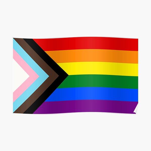 Progress Pride Flag Poster
