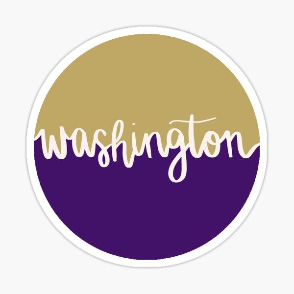 Washington Script Sticker