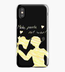 Make Pasta Not War iPhone Case