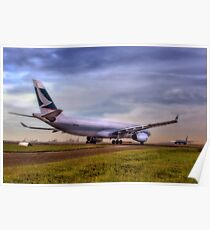 Cathay Pacific - Sydney Mascot Airport, NSW, Australia Poster