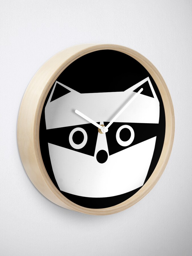 Alternate view of Troublesome Raccoon Clock