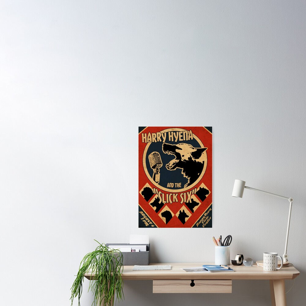 Art Deco Band Poster Poster
