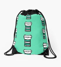 Troublesome Raccoon Drawstring Bag