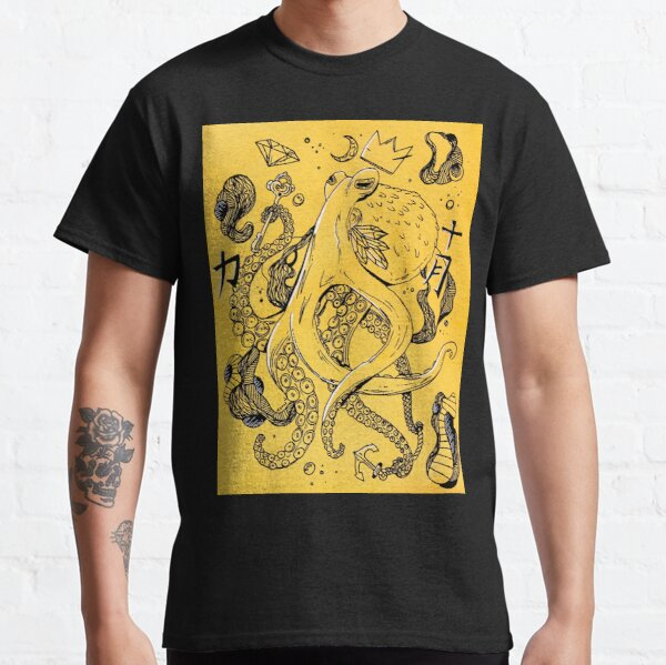 Royal Octopus In Canary Yellow Classic T-Shirt