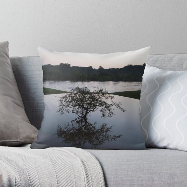 Rough and Peaceful Waters Throw Pillow