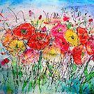 Sommer-Blüten-Aquarell-Mohnblumen-Malerei von OLena Art von OLena  Art ❣️