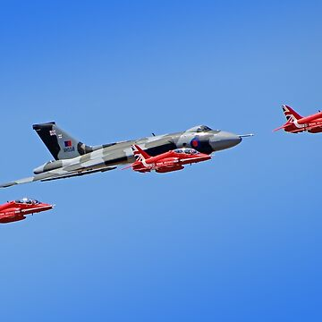 Final Vulcan flight with the Red Arrows - 11 by Arrowman