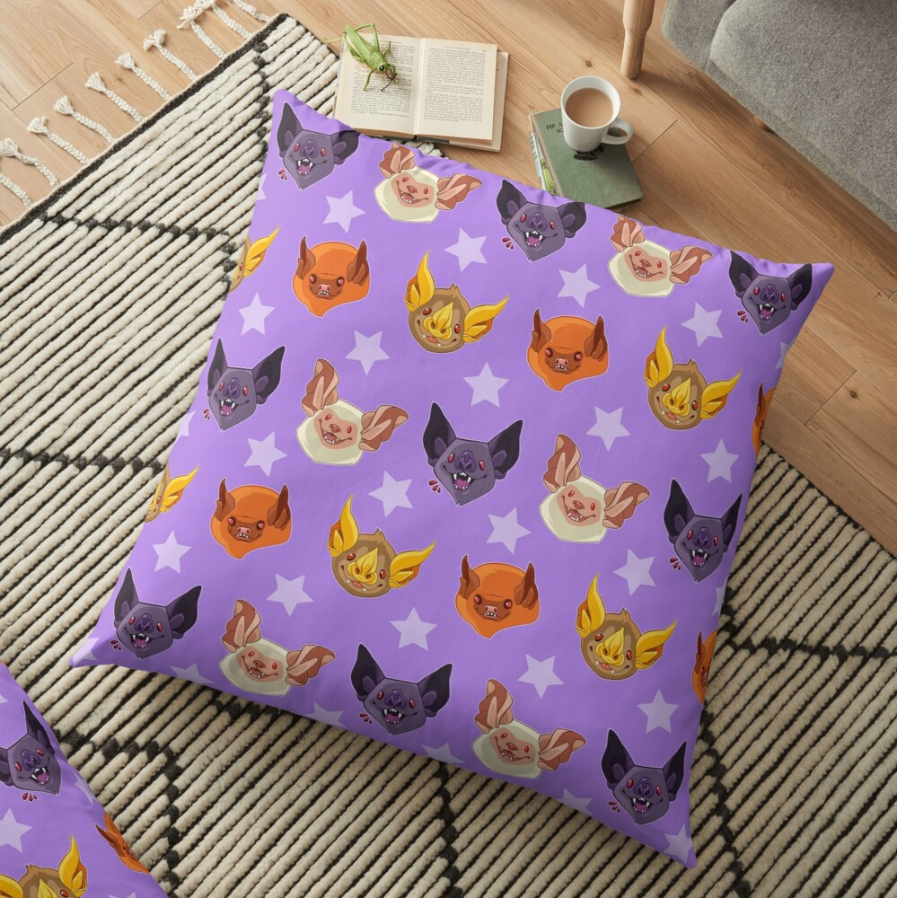 Bat Cuties Floor Pillow
