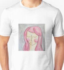 Girl:  Pink Hair  Unisex T-Shirt