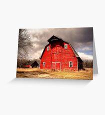 Ye Old Red Barn Greeting Card