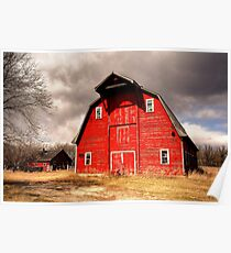 Ye Old Red Barn Poster
