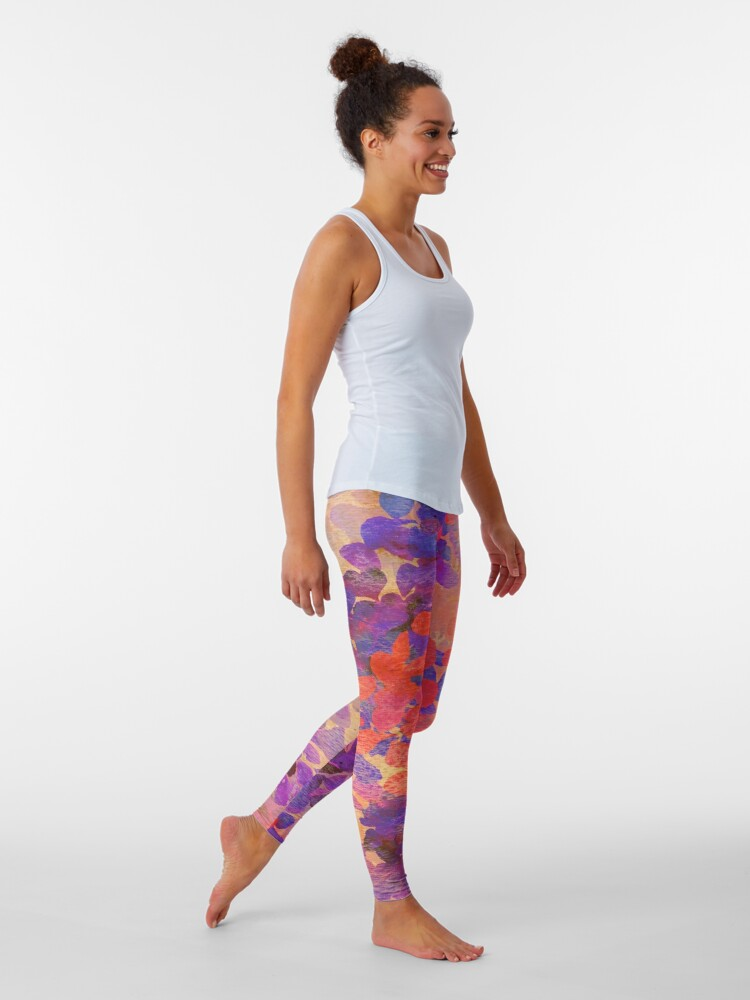 Alternate view of floral composition Leggings