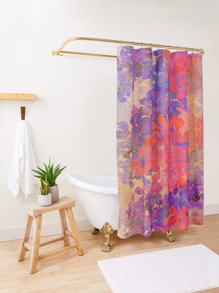 Alternative Ansicht von florale Komposition Duschvorhang