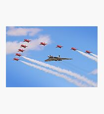Final Vulcan Flight with The Red Arrows -  9 Photographic Print