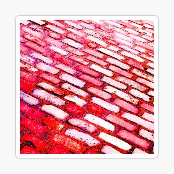 Diagonal Street Cobbles Sticker