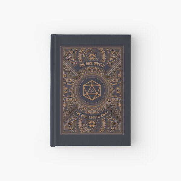 Steampunk Dice Giveth and Taketh Away Hardcover Journal