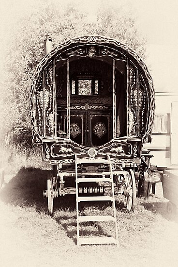 Romany Caravan by Trevor Kersley