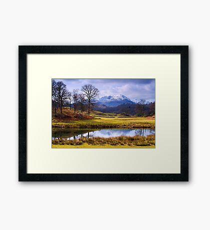 Wetherlam from The Brathay - The Lake District Framed Print