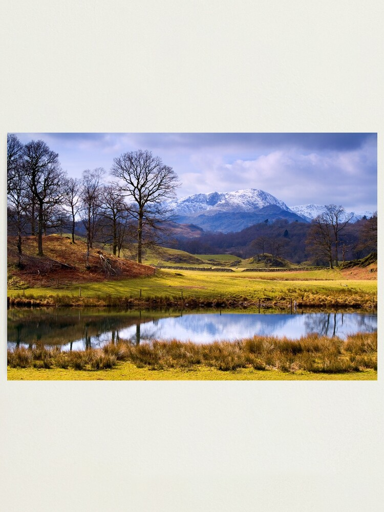 Alternate view of Wetherlam from The Brathay - The Lake District Photographic Print