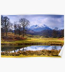 Wetherlam from The Brathay - The Lake District Poster