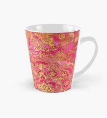Pink und Gold Barock Blumenmuster Tasse (konisch)