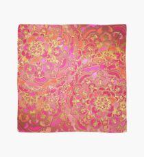 Pañuelo Patrón floral barroco rosa y oro caliente