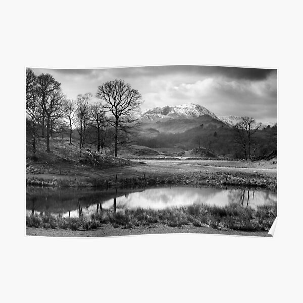 Wetherlam and the River Brathay. Poster