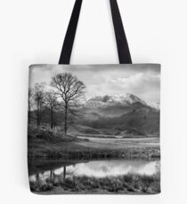 Wetherlam and the River Brathay. Tote Bag