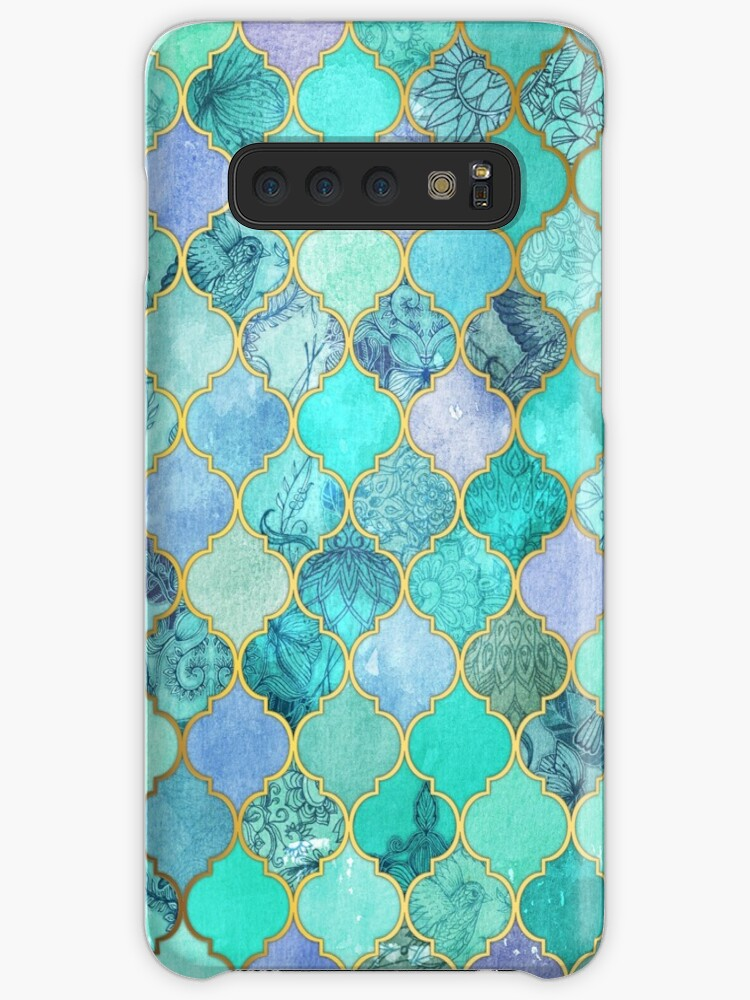 «Patrón de mosaico marroquí fresco de Jade & Icy Mint decorativo» de micklyn