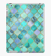 Vinilo o funda para iPad Patrón de mosaico marroquí fresco de Jade & Icy Mint decorativo