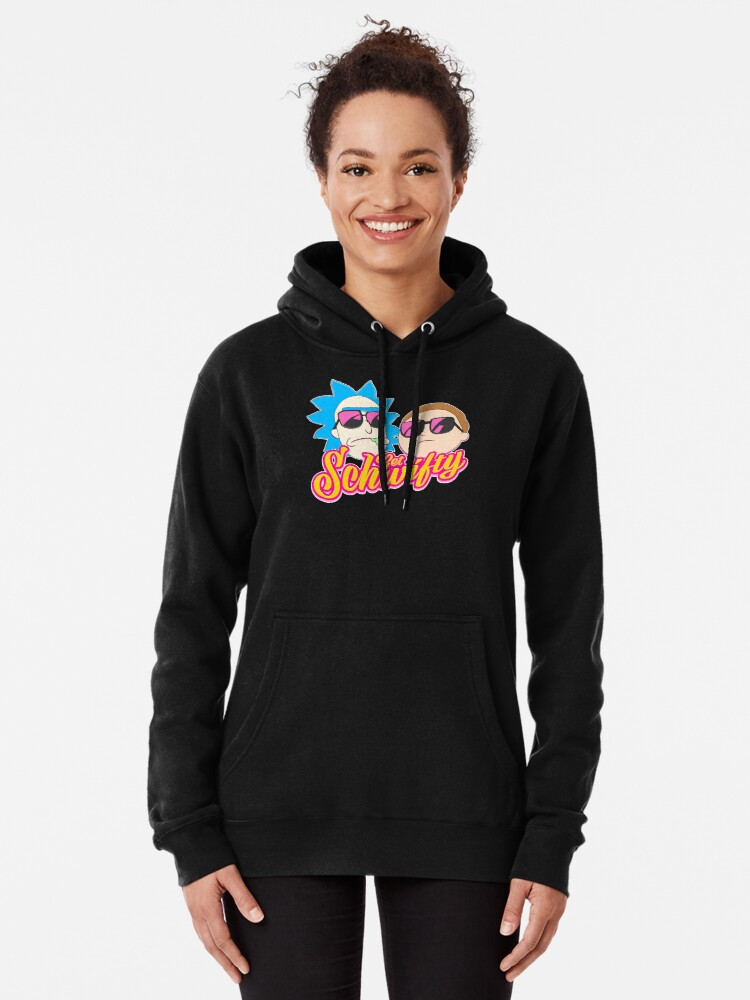 Alternate view of Rick And Morty : Get Schwifty Pullover Hoodie