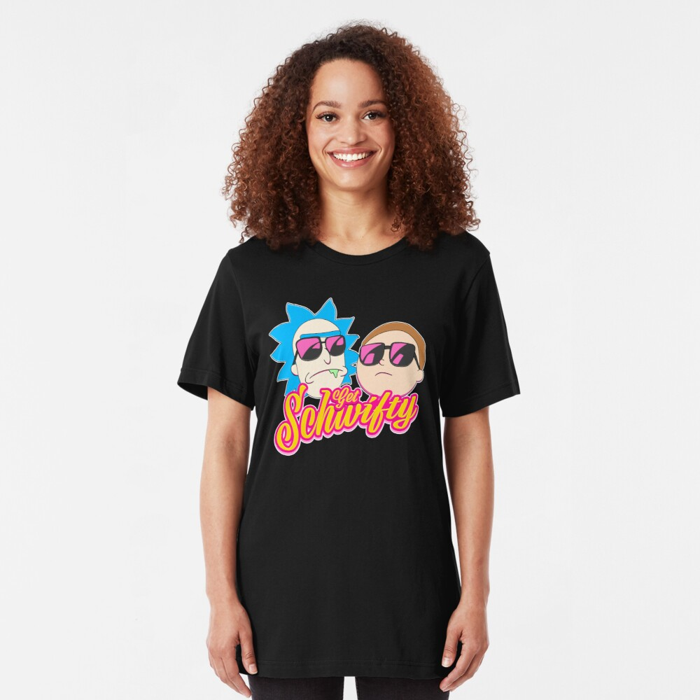 Rick And Morty : Get Schwifty Slim Fit T-Shirt