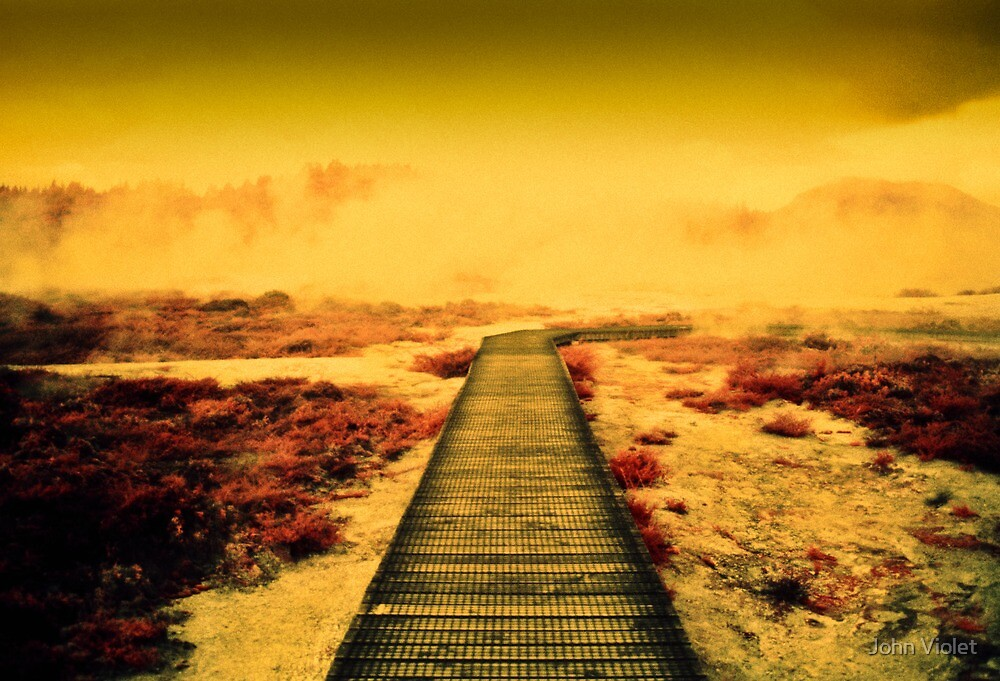 Red Pathway by John Violet