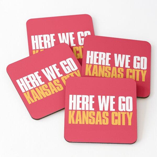 Here we go Kansas City Sports Fan Coasters (Set of 4)