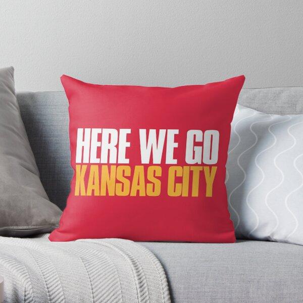 Here we go Kansas City Sports Fan Throw Pillow