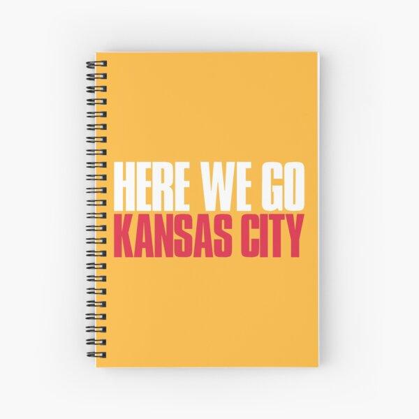 Here we go Kansas City Fan Spiral Notebook