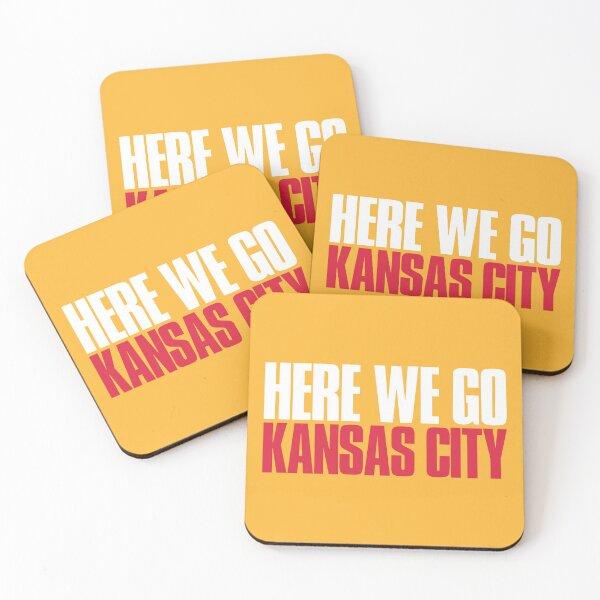 Here we go Kansas City Fan Coasters (Set of 4)