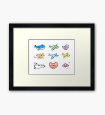 Cute airplanes  Framed Print