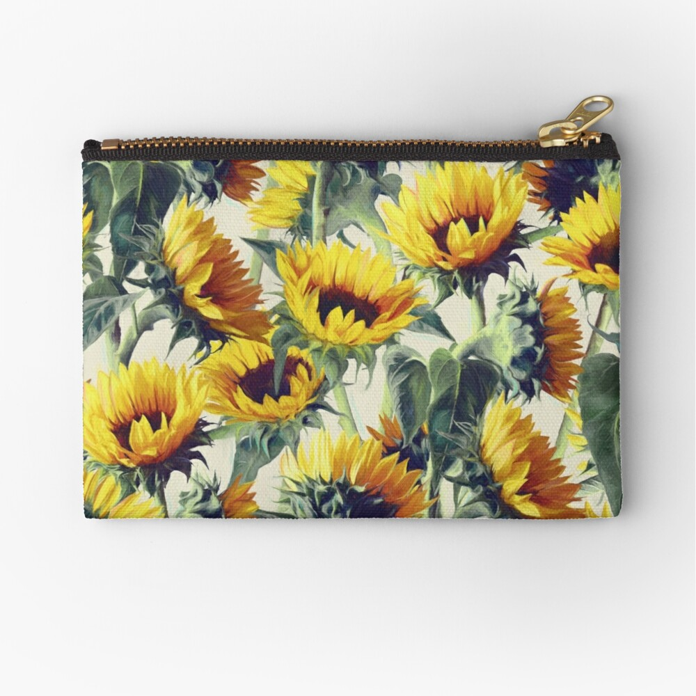Sunflowers Forever Zipper Pouch
