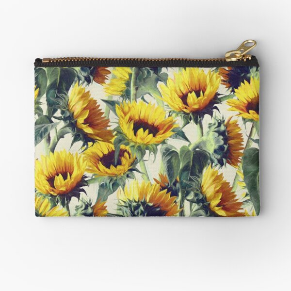 Sunflowers Forever Zipper Pouch