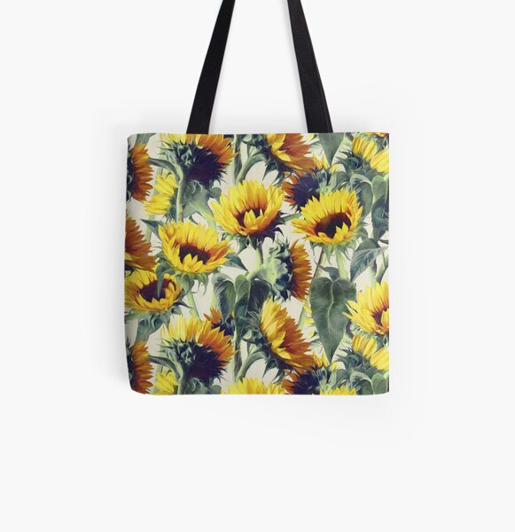 Sunflowers Forever All Over Print Tote Bag